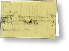 Green Pond Drive, Drawing, 1862-1865, By Alfred R Waud Greeting Card