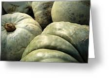 Green Pumpkins Greeting Card