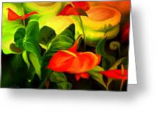 Green Red Greeting Card