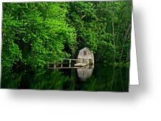 Green Reflections Greeting Card by Kerri Ann Crau