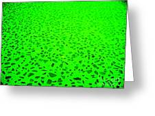 Green Representational Abstract Greeting Card