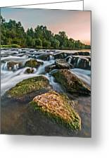 Green Rocks Greeting Card by Davorin Mance