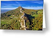 Green Scenery Of Kalnik Mountain Ridge Greeting Card