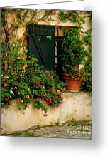 Green Shuttered Window Greeting Card by Lainie Wrightson