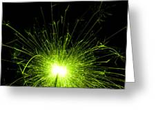 Green Sparkle Greeting Card