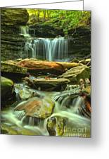 Green Spring Cascades Greeting Card