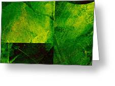 Green Square Abstract Greeting Card