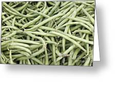 Green String Beans Display Greeting Card