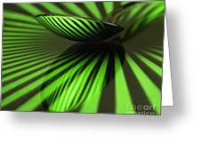 Green Stripes Greeting Card