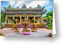 Green Temple Greeting Card