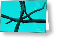 Green Tree Branch Art Greeting Card