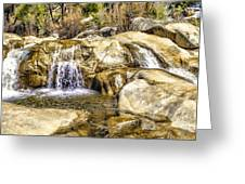 Green Valley Falls Winter Greeting Card