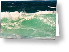 Green Wave Pacific Grove Ca  Greeting Card