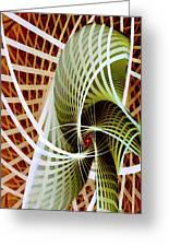 Green Weave Greeting Card