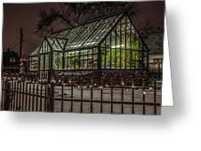 Greenhouse In Winter #2 Greeting Card