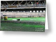 Greening The Chicago River Greeting Card