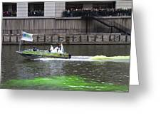 Greening The Chicago River For St Patrick's Day Greeting Card