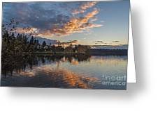 Greenlake Autumn Sunset Greeting Card