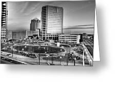 Greensboro Center City Park Bw Greeting Card