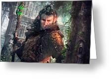Greenside Watcher Greeting Card