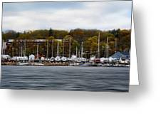 Greenwich Harbor Greeting Card by Lourry Legarde