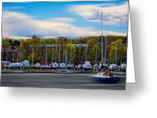 Greenwich Marina Greeting Card
