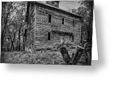 Greer Mill Black And White Greeting Card