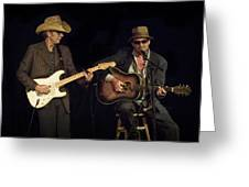 Greg Brown And Bo Ramsey In Concert Greeting Card