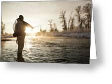 Greg Houska Fly Fishing On The Provo Greeting Card