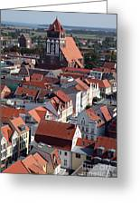 Greifswald Roofscape Pomerania Greeting Card