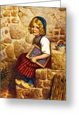 Gretel Brothers Grimm Greeting Card