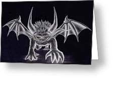 Grevil Silvered Greeting Card by Shawn Dall