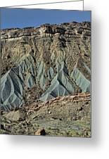 Grey Cliffs In Waterpocket Fold  Greeting Card