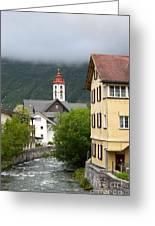 Grey Day In Switzerland  Greeting Card