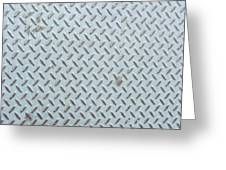Grey Iron Industrial Floor As Background Greeting Card
