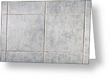 Grey Tiles Greeting Card