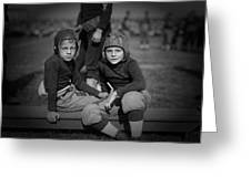 Gridiron Pals Greeting Card