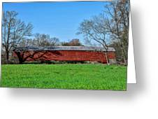 Griesemers Mill Covered Bridge Berks County Pennsylvania Greeting Card