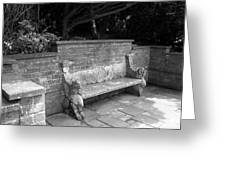 Griffin Bench Greeting Card