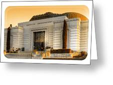 Griffith Observatory - Mike Hope Greeting Card