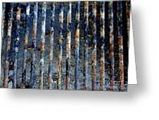 Grill Abstract Greeting Card