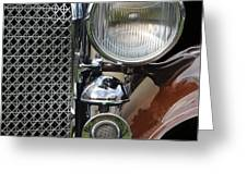 Grill And Headlight Greeting Card