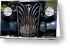 Grill And Headlights Greeting Card