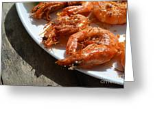 Grilled Crustacean 2 Greeting Card