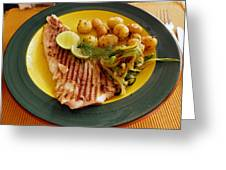 Grilled Fish Greeting Card