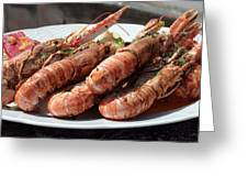 Grilled Prawns Croatia Greeting Card