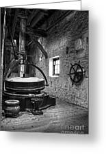 Grinder For Unmalted Barley In An Old Distillery Greeting Card