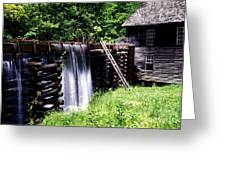 Grist Mill And Water Trough Greeting Card