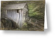 Grist Mill At Cades Cove Greeting Card