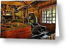 Grist Mill Gears Greeting Card